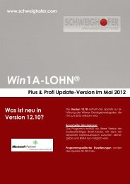 Win1A-LOHN® Plus & Profi Was ist neu in Version 12.10?