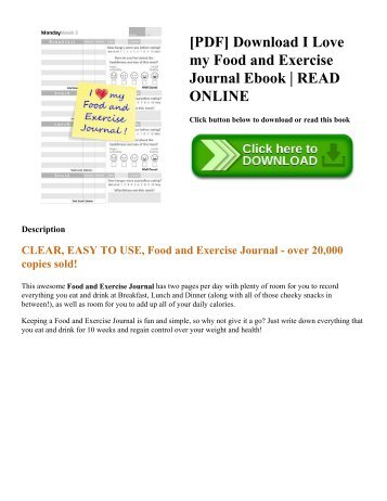 pdf i love my food and exercise journal