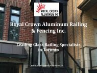 Glass Railing Specialists in Toronto