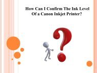 How Can I Confirm The Ink Level of a Canon Inkjet Printer?