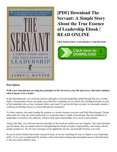 PDF] Download The Servant: A Simple Story About the True