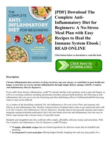 Pdf download the easy anti inflammatory diet fast and simple pdf download the complete anti inflammatory diet for beginners a no fandeluxe Gallery