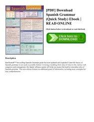 [PDF] Download Spanish Grammar (Quick Study) Ebook   READ ONLINE