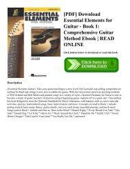 [PDF] Download Essential Elements for Guitar - Book 1: Comprehensive Guitar Method Ebook   READ ONLINE