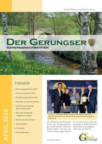 Der Gerungser - April 2018
