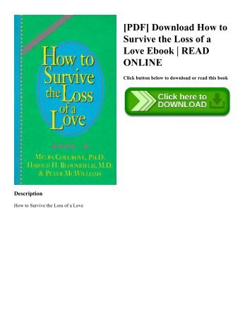 [PDF] Download How to Survive the Loss of a Love Ebook | READ ONLINE