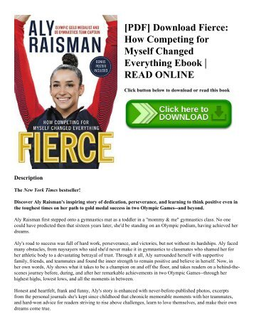 [PDF] Download Fierce: How Competing for Myself Changed Everything Ebook | READ ONLINE
