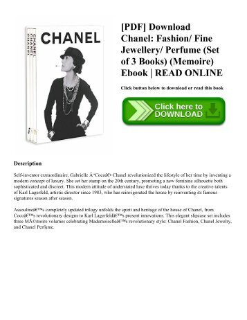 [PDF] Download Chanel: Fashion/ Fine Jewellery/ Perfume (Set of 3 Books) (Memoire) Ebook | READ ONLINE