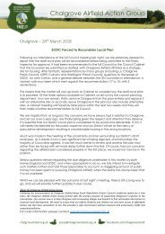Press Release - SODC Forced to Reconsider Local Plan