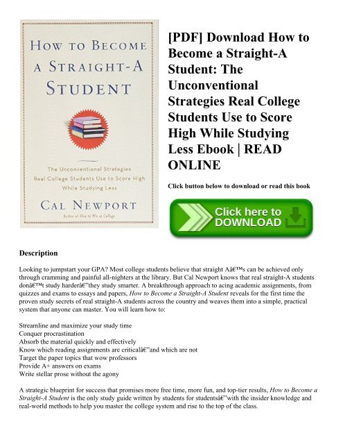 PDF] Download How to Become a Straight-A Student: The