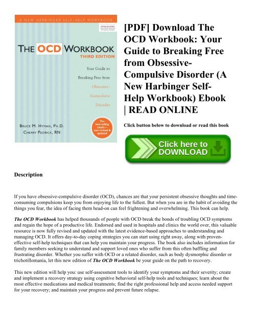 PDF Download The OCD Workbook Your Guide To Breaking Free
