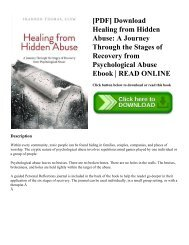 [PDF] Download Healing from Hidden Abuse: A Journey Through the Stages of Recovery from Psychological Abuse Ebook | READ ONLINE