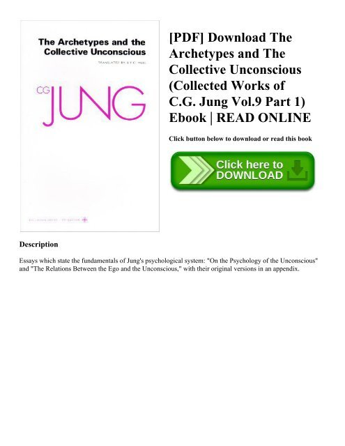 Archetypes and the Collective Unconscious (The Collected Works of C. G. Jung, Volume 9; Part 1)