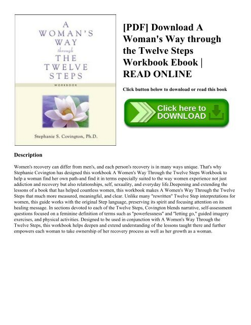 PDF Download A Woman S Way Through The Twelve Steps