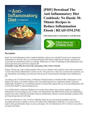 Pdf download the anti inflammatory diet cookbook no hassle 30 pdf download the anti inflammatory diet cookbook no hassle 30 minute recipes to reduce inflammation ebook read online forumfinder Choice Image