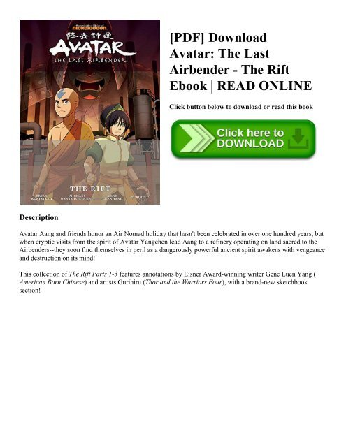 Pdf Download Avatar The Last Airbender The Rift Ebook Read Online