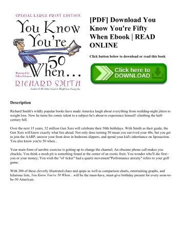 [PDF] Download You Know You're Fifty When Ebook | READ ONLINE