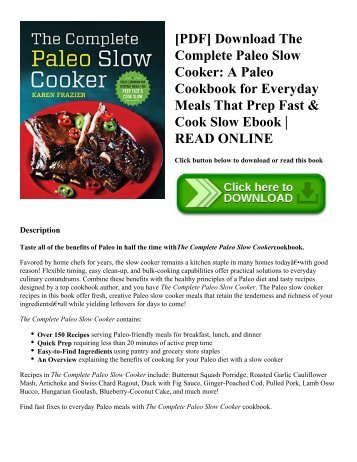 Pdf download the autoimmune paleo cookbook an allergen free pdf download the complete paleo slow cooker a paleo cookbook for everyday meals forumfinder Image collections