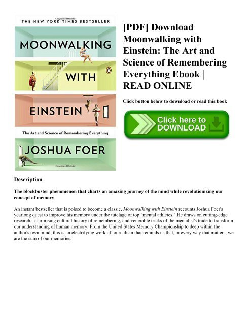 Moonwalking With Einstein Ebook