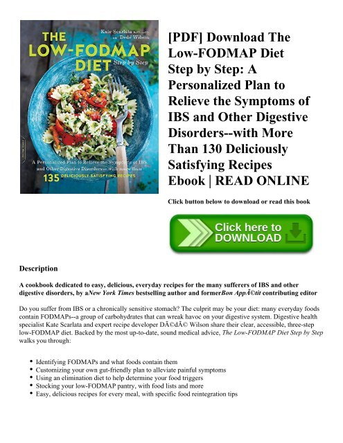 Pdf Download The Low Fodmap Diet Step By Step A Personalized