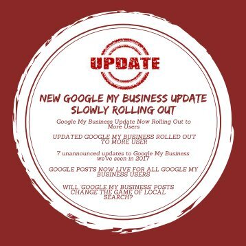 NEW GOOGLE MY BUSINESS UPDATE SLOWLY ROLLING OUT