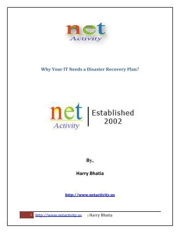 Why Your IT Needs a Disaster Recovery Plan