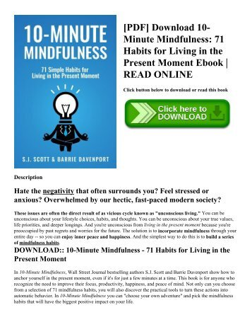 Pdf download mindfulness for beginners reclaiming the present pdf download 10 minute mindfulness 71 habits for living in the present fandeluxe Image collections