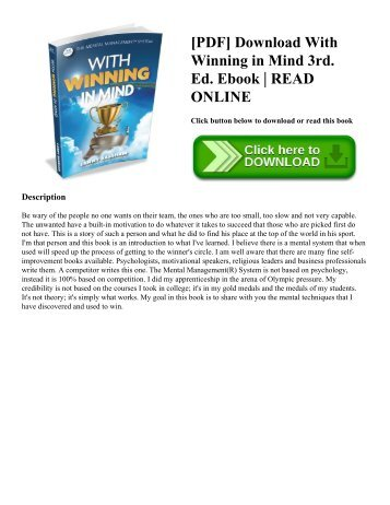 [PDF] Download With Winning in Mind 3rd. Ed. Ebook | READ ONLINE