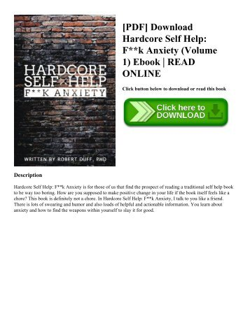 [PDF] Download Hardcore Self Help: F**k Anxiety (Volume 1) Ebook | READ ONLINE