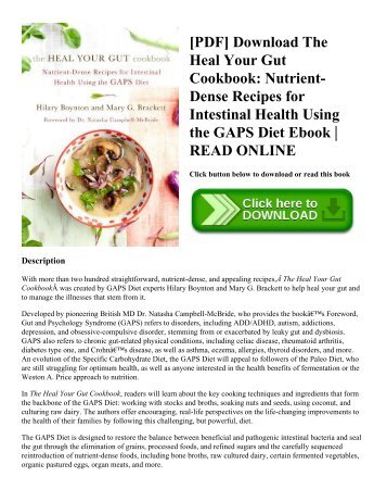 Pdf download the heal your gut cookbook nutrient dense recipes for pdf download the heal your gut cookbook nutrient dense recipes for intestinal health using the gaps diet ebook read online forumfinder Images