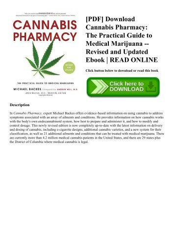 [PDF] Download Cannabis Pharmacy: The Practical Guide to Medical Marijuana -- Revised and Updated Ebook | READ ONLINE