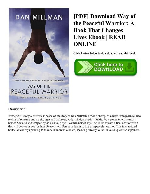Way Of The Peaceful Warrior Book Pdf