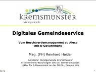 Kremsmuenster_E-Gov_DigitalesGemeindeservice_ReinhardHaider2018Maerz