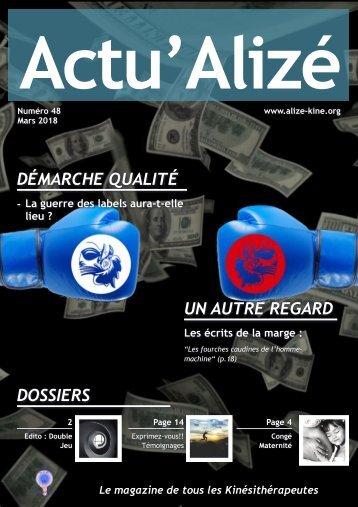 Actu'Alizé n°48 Mars 2018