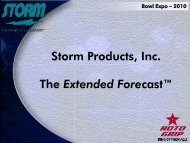 """Storm Products, Inc. The Extended Forecastâ""""¢ - Storm Bowling"""