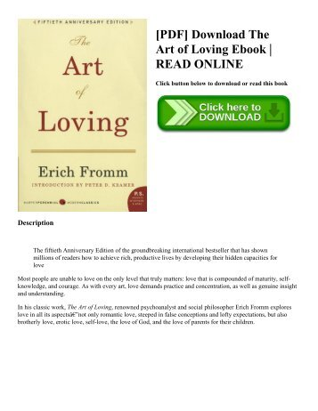 [PDF] Download The Art of Loving Ebook | READ ONLINE