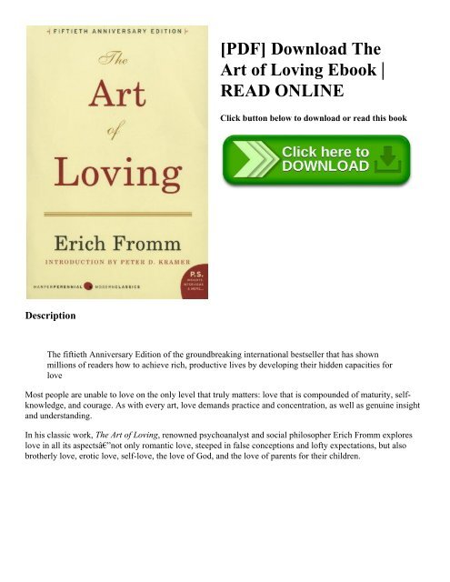 Erich Fromm The Art Of Loving Pdf