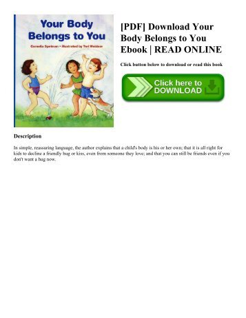 [PDF] Download Your Body Belongs to You Ebook | READ ONLINE