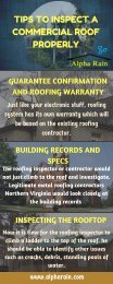TIPS TO INSPECT A COMMERCIAL ROOF PROPERLY