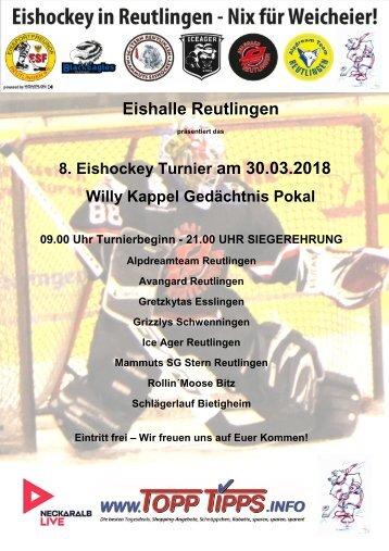 8. Willy Kappel Gedächtnis Eishockey Turnier Reutlingen