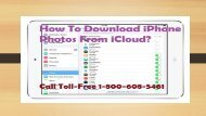 Toll-Free 1-800-608-5461 How To Download iPhone Photos From iCloud