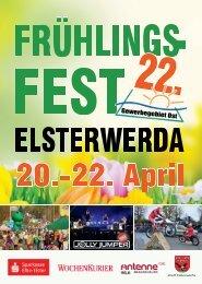 Programmheft Frühlingsfest Elsterwerda