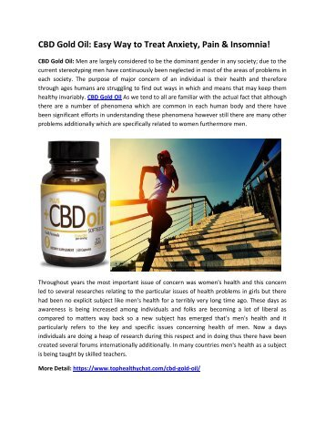 CBD Gold Oil: The Ultimate All Natural Anxiety Reliever!