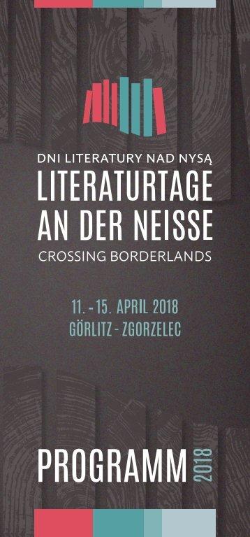 Programm | Literaturtage an der Neiße 2018