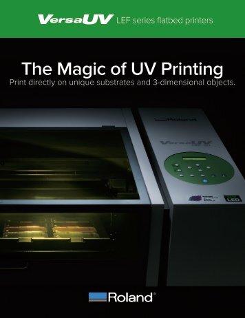 Roland LEF-200 Benchtop UV Flatbed Large Format Printers - PrintFinish.com