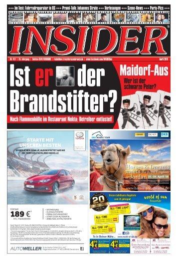 INSIDER Osnabrück // April 2018 // No. 417