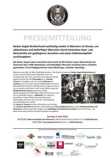 Barber Angels Brotherhood nachhaltig wieder in München am 8. April 2018