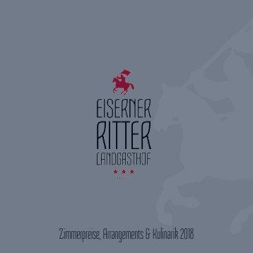 Landgasthof Eiserner Ritter: Booklet 2018