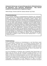 Ambulante Nachsorge und sprachtherapeuti - Dr.Hein
