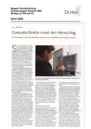 Computer-Doktor misst den Herzschlag - Dr.Hein